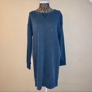 American Eagle Sweatshirt Dress Navy Blue Sz Large